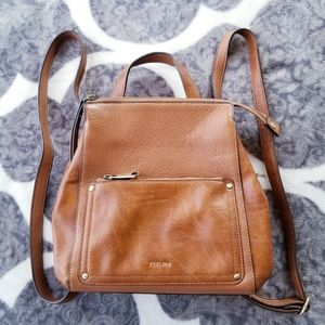 Perlina Leather Judi Convertible Backpack Purse